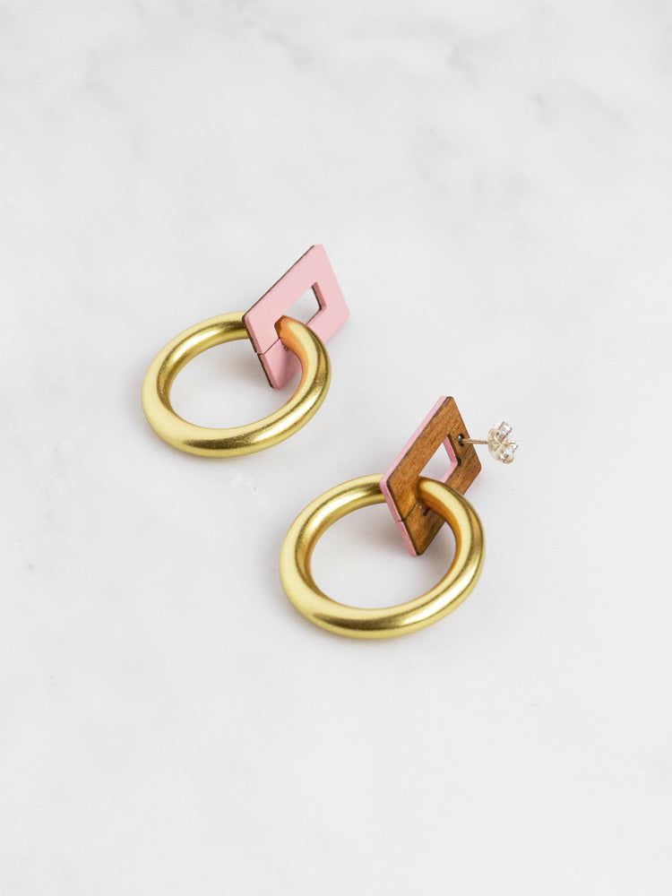 Etta Earrings in Rose