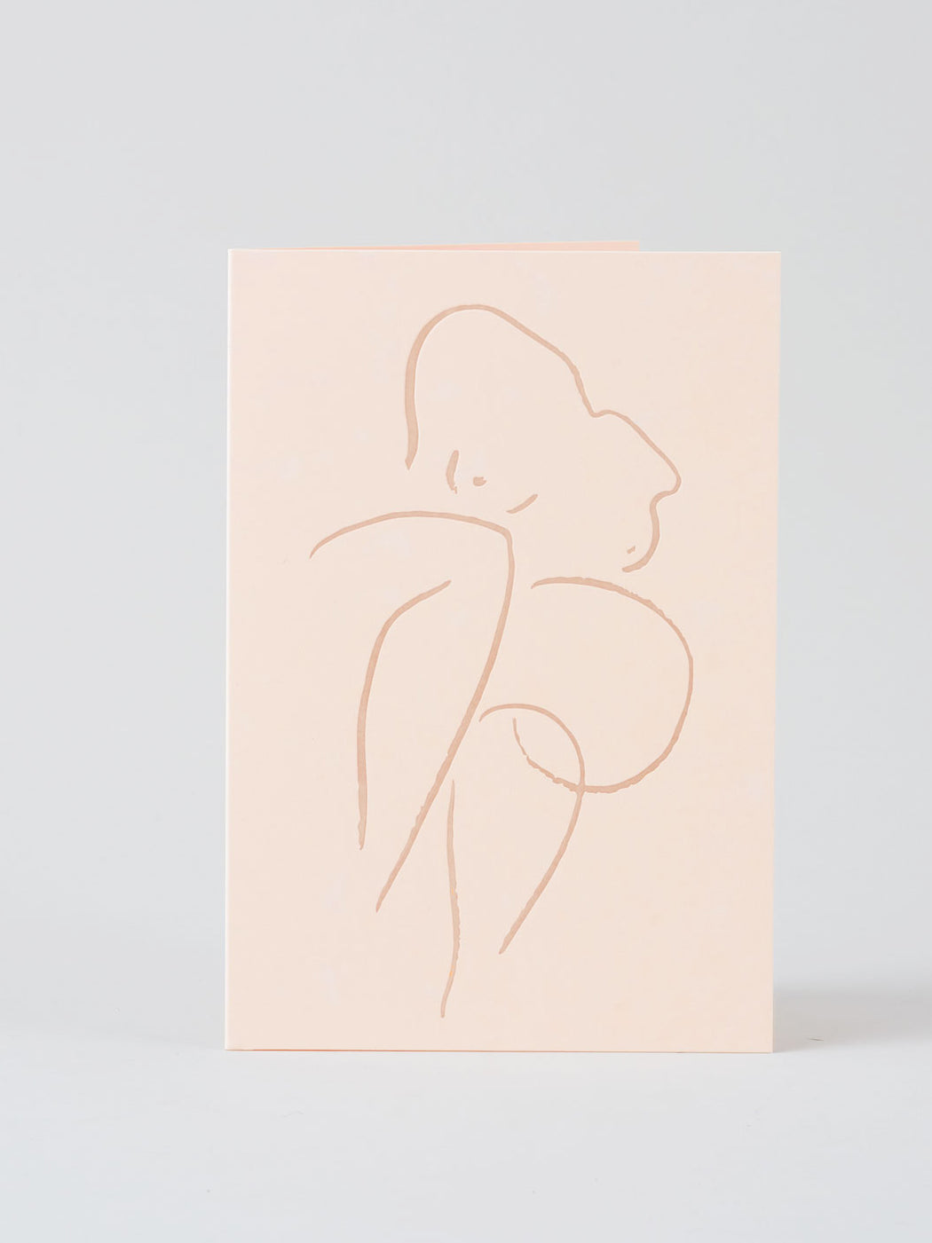 Seated Nude Greetings Card