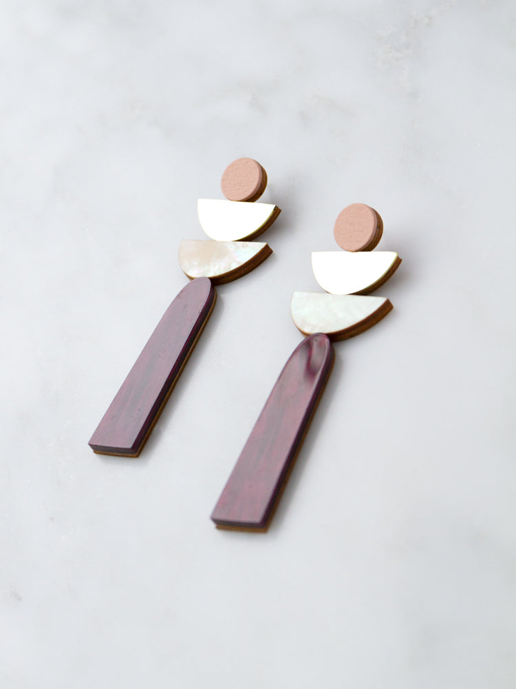 Selene Earrings in Cherry