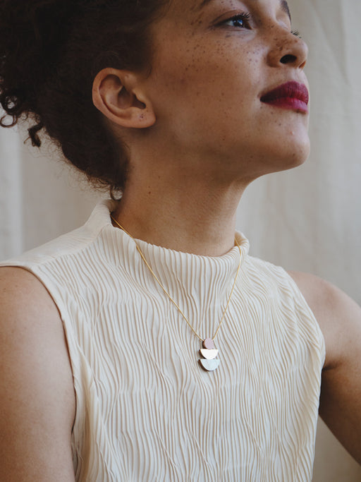 Selene Necklace in Blush