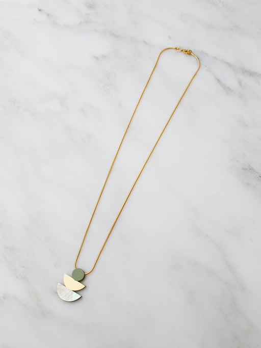 Selene Necklace in Pistachio