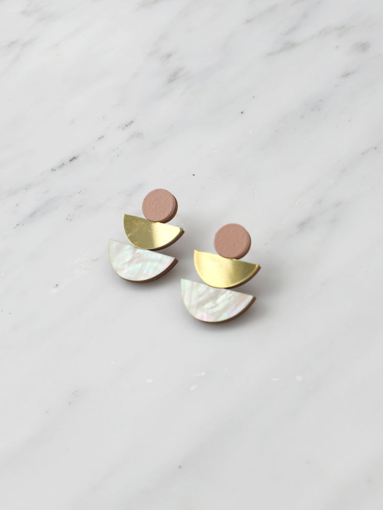 Selene Studs in Blush