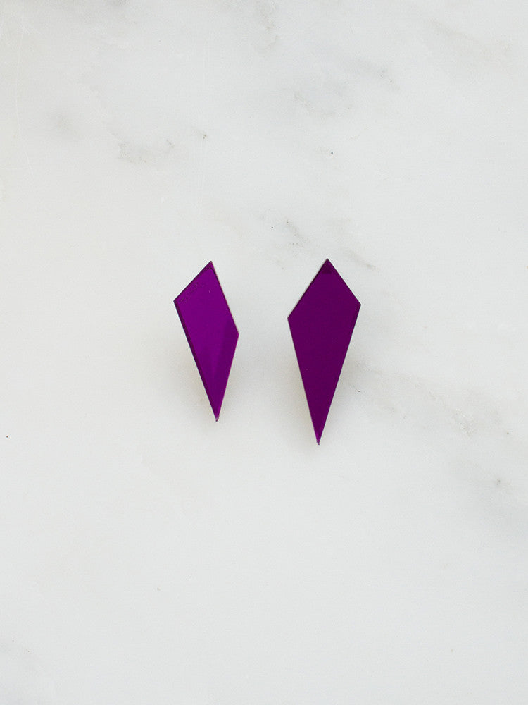 Shard Studs Purple Mirror