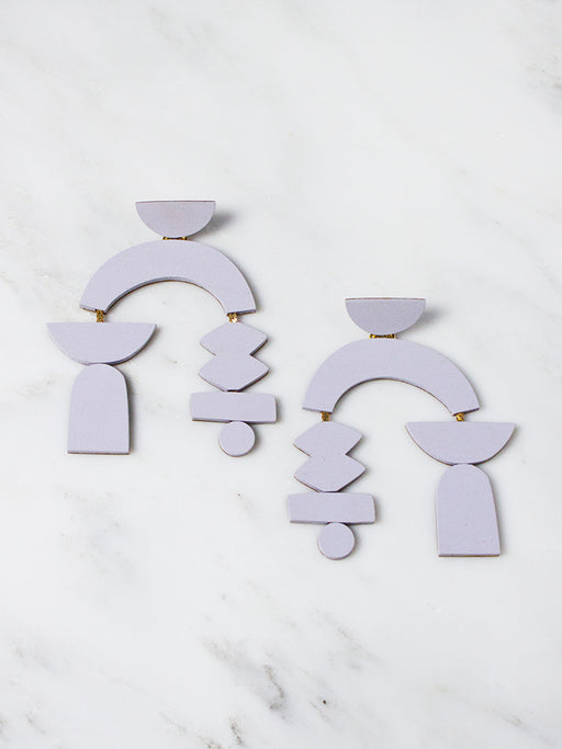 Lavender Silhouette Earrings by Wolf & Moon
