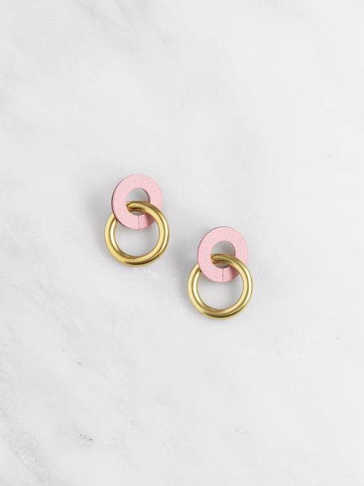 Mini Isla Earrings in Rose