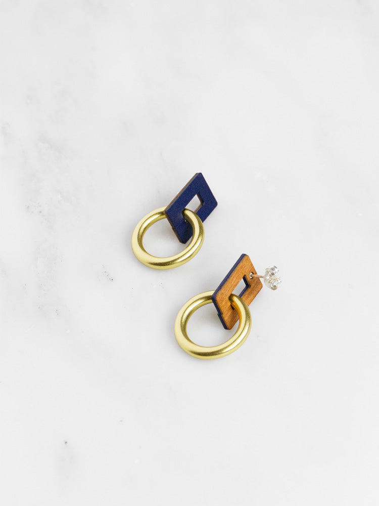Mini Etta Earrings in Midnight Blue