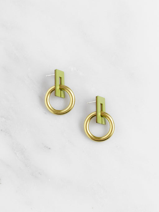 Mini Etta Earrings in Apple