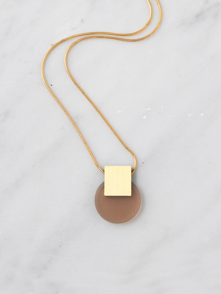 Sol Necklace in Coffee