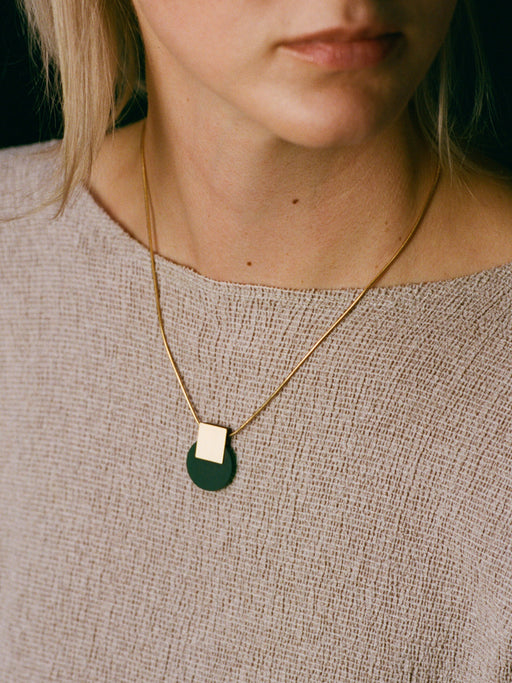 Sol Necklace in Dark Green