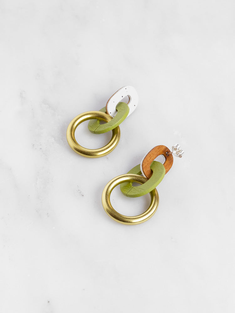 Thea Earrings in Apple