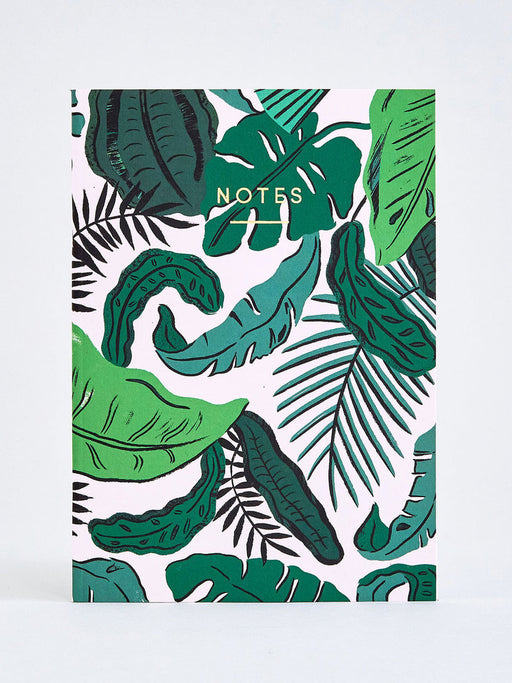 Tropical Leaves Notebook (A5)