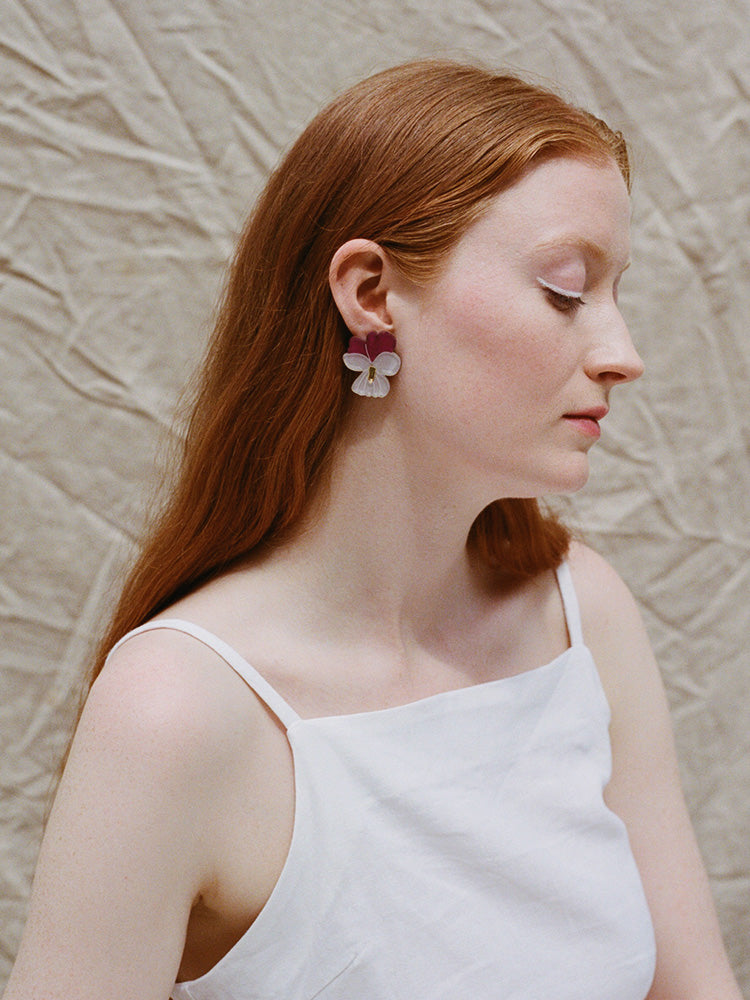 Violet Earrings | Original handmade statement jewellery by Wolf & Moon
