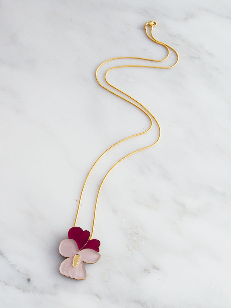 Violet Necklace | Original handmade statement jewellery by Wolf & Moon