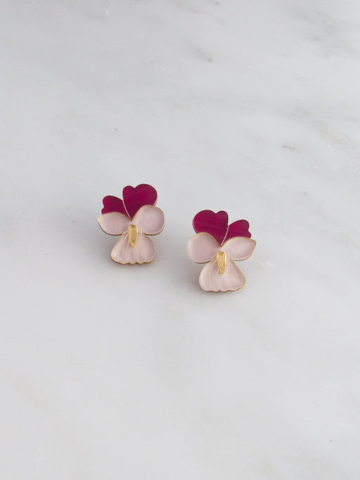 Mini Violet Studs | Original handmade statement jewellery by Wolf & Moon
