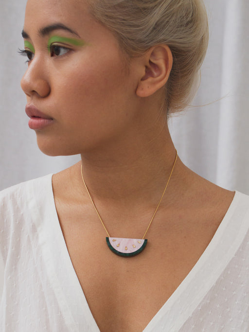 W&M X CoppaFeel! Watermelon Necklace