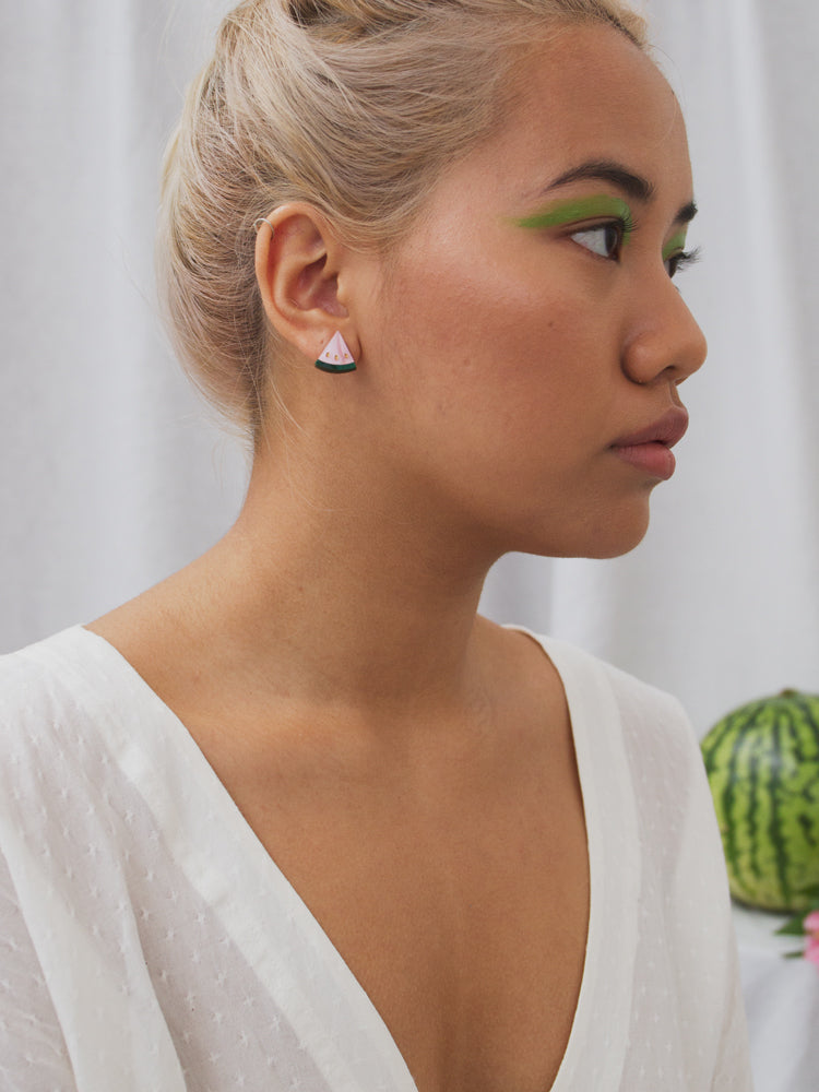 W&M X CoppaFeel! Watermelon Studs