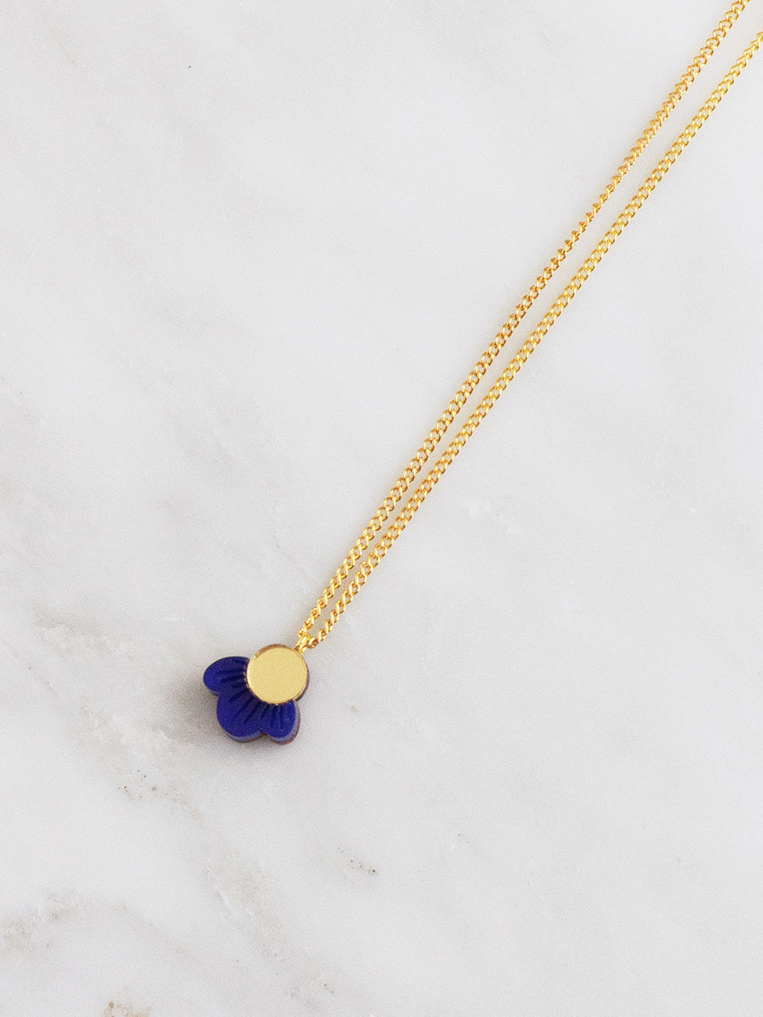 Wildflower Necklace in Dark Blue