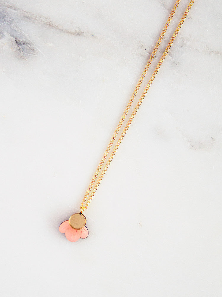 Wildflower Necklace in Pink Blush