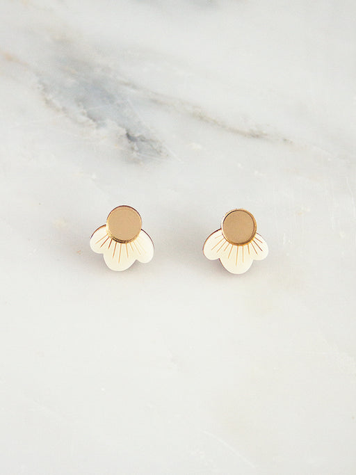 Wildflower Studs in Cream