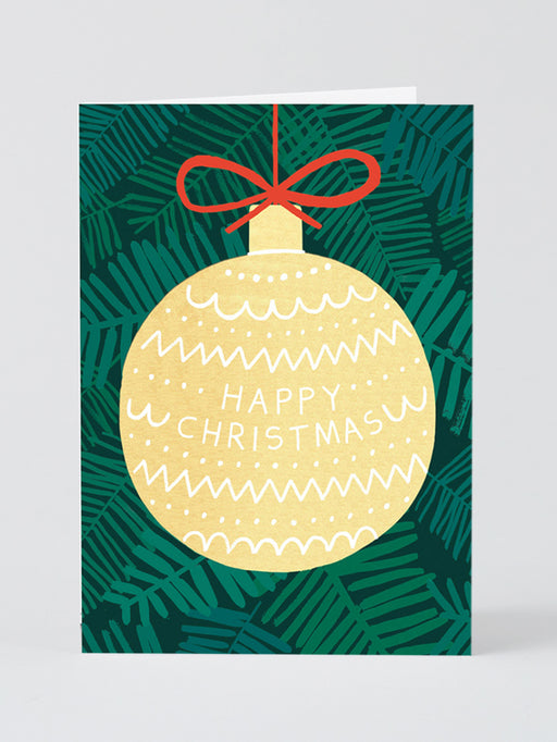 Giant Bauble Greetings Card