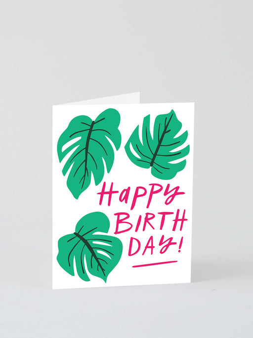 Happy Birthday Monstera Greetings Card