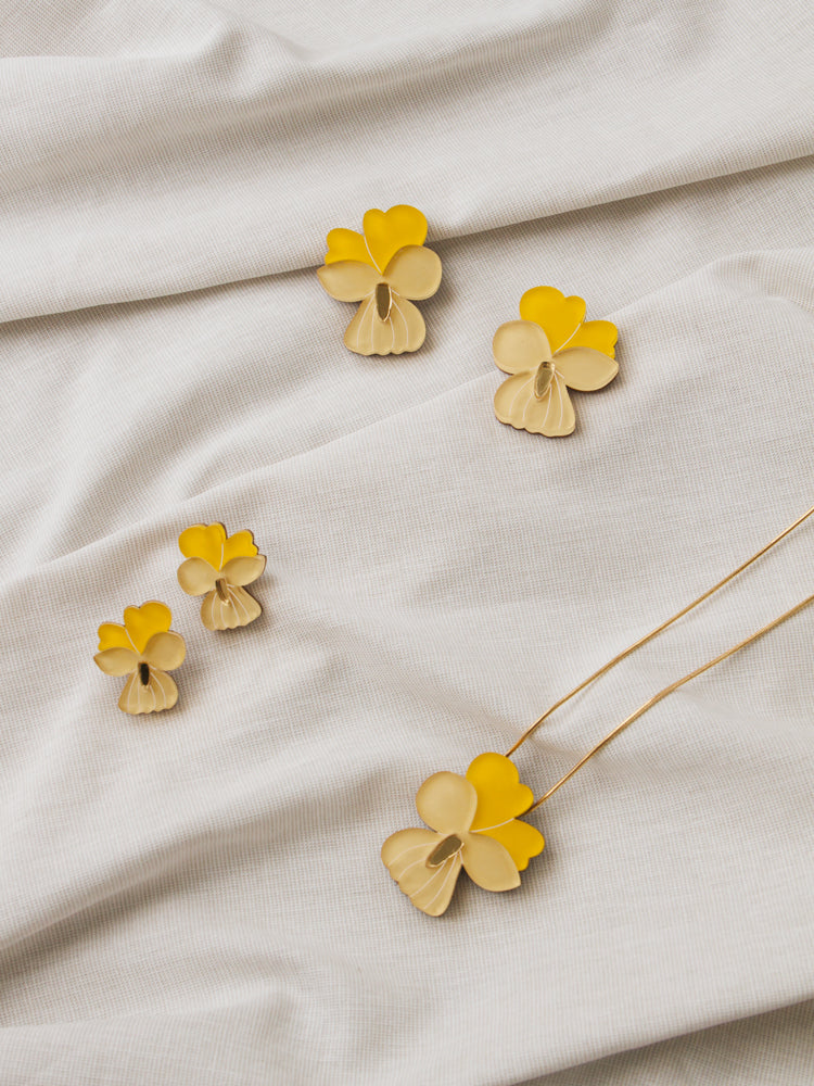 Pansy Earrings in Yellow *Limited edition*