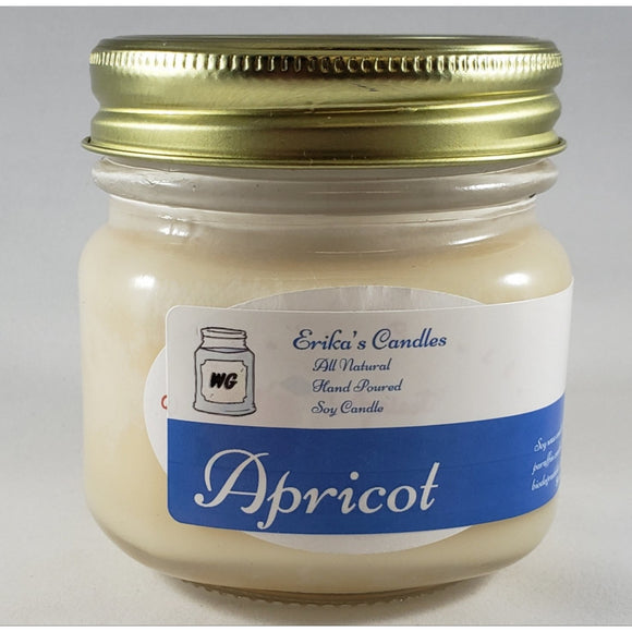 Apricot All Natural Hand Poured Soy Wax Mason Jar Candle