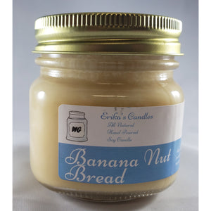 Banana Nut Bread All-Natural Hand Poured Soy Wax Mason Jar Candle