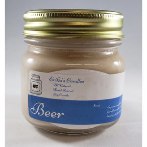 Beer All Natural Hand Poured Soy Wax Mason Jar Candle