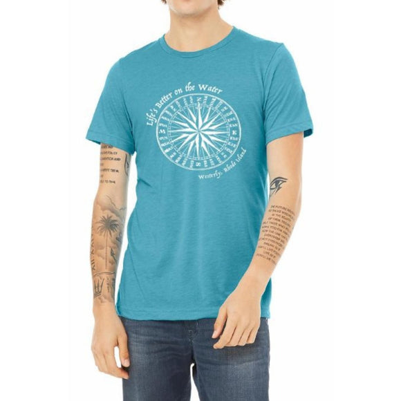 Life's Better on the Water Aqua Tri-Blend Vintage Unisex Tee