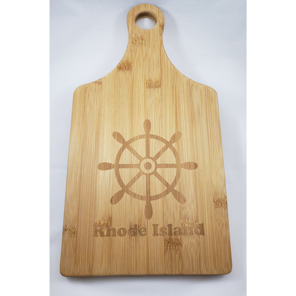 "Captain's Wheel Maple 13.5"" x 7"" Paddle Shaped Cutting Board"