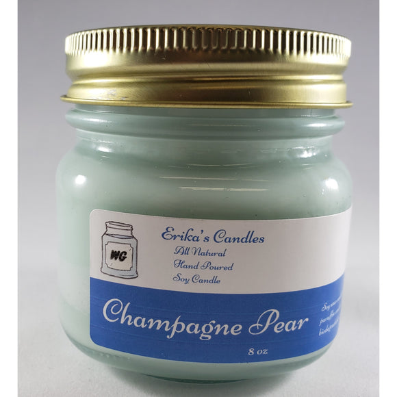 Champagne Pear All Natural Hand Poured Soy Wax Mason Jar Candle
