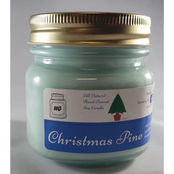 Christmas Pine All-Natural Hand Poured Soy Wax Mason Jar Candle