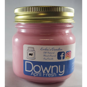 Downy April Fresh All-Natural Hand Poured Soy Wax Mason Jar Candle