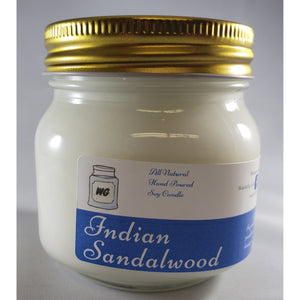 Indian Sandalwood All-Natural Hand Poured Soy Wax Mason Jar Candle