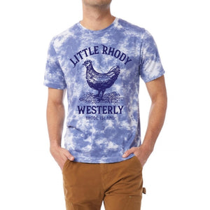 Little Rhody Blue Cloud Vintage Unisex Tie Dye Tee