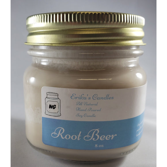 Root Beer All-Natural Hand Poured Soy Wax Mason Jar Candle
