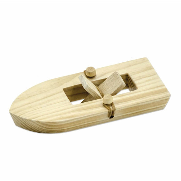 Rubber Band Powered Classic Wooden Boat