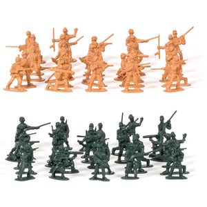 Retro Miniature Toy World War II Soldiers – 60 Pack