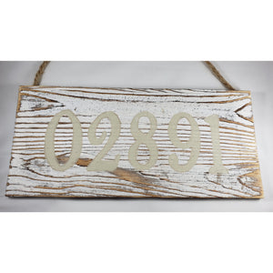 Westerly Zip Code 02891 Worn Paint Wood Hanging Sign