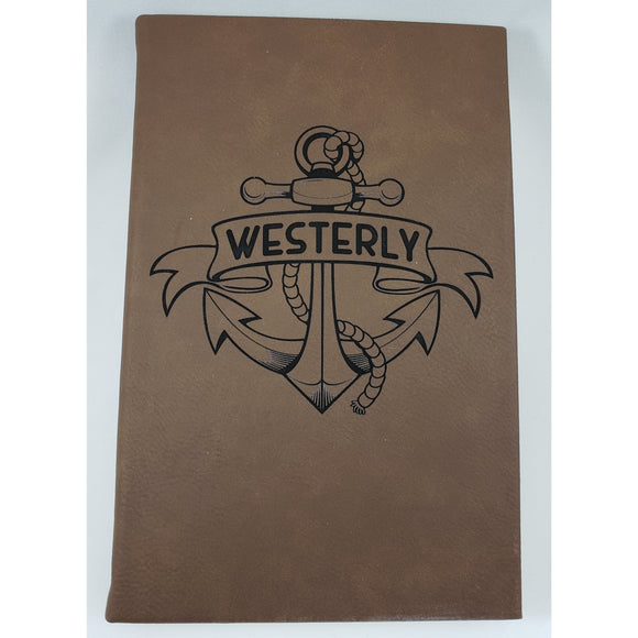 Westerly Anchor Brown Leatherette Journal