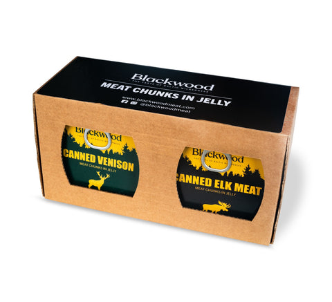 BlackWood - 3+1 Free Range Venison and 1 extra Elk Meat Chunks in Jelly