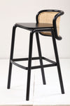 Cane Back Bar Stool in teak