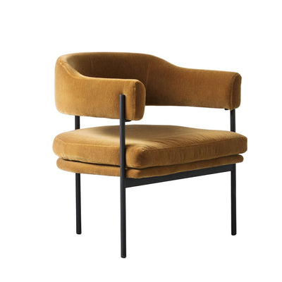 Velvet Modernist Lounge Chair