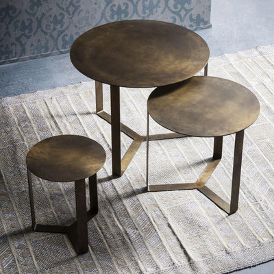 Floating Bronze Tables