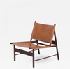 Swedish Stretch Leather chair in Oak Natural