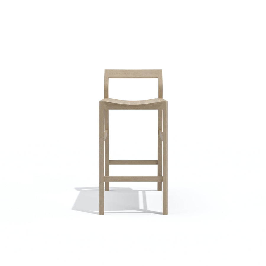 Block Bar Stool in Oak