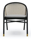 Retro Dining Chair in Mahogany Black