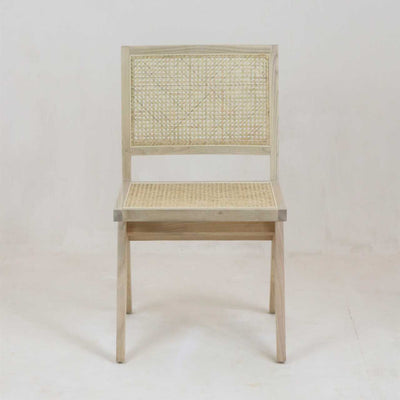Jeanneret Armless Dining Chair in Oak