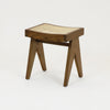 Pierre Jeanneret Stool Teak in a Walnut finish